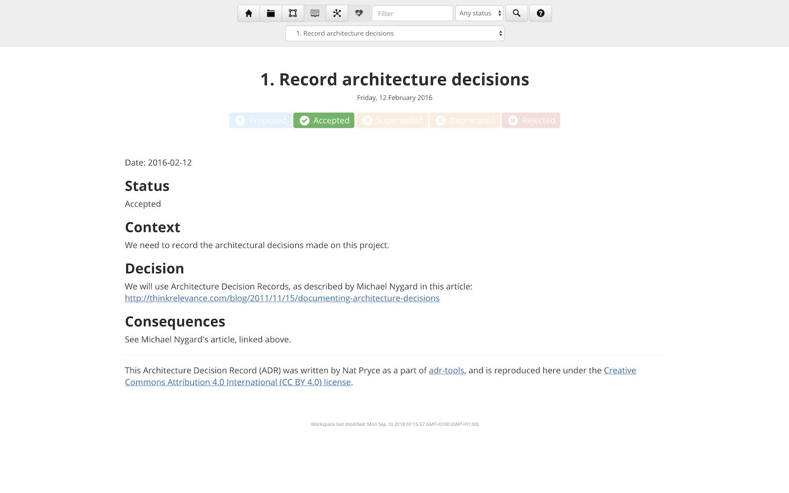 Decision log - detail