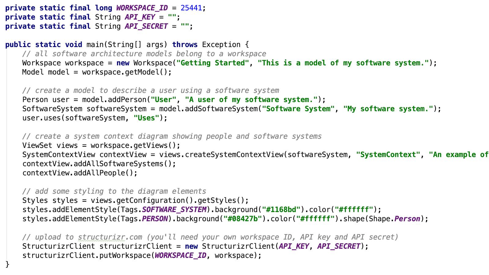 Create content using code